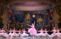PNB: A spot of springtime in the middle of Nutcracker. Carrie Imler as Flora with Company dancers in Flower
