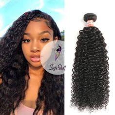 Brazilian Non-Remy Kinky Curly Human Hair Weave - ivyshelf Hair Weft, Remy Hair, 100 Human Hair, Brazilian Hair, Weave Hairstyles, Hair Type, Kinky, Curly, Weaving