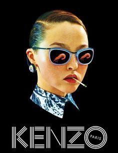 Devon Aoki for Kenzo's Spring 2014 Ad Campaign