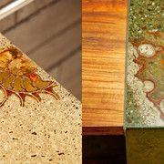 Concrete inlay detail