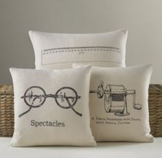 Schoolhouse Linen Pillow Cover & Insert | Decorative Pillows | Restoration Hardware Baby & Child