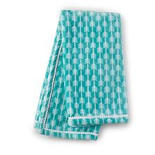 Babes R Us Exclusive! The Phoenix Arrow Blanket has an arrow print design in teal printed on a soft and snugly plush fabric with a mini white pom-pom trimmed edge. Perfect for stroller rides, bundling or simply an accent to the nursery.