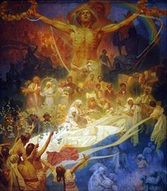 Alphonse Mucha - Apotheosis of the Slavs One of 20 large canvases painted by Czech Art Nouveau painter Alfons Mucha between 1910 and Art And Illustration, Art Nouveau, Alphonse Mucha Art, Jugendstil Design, Belle Epoque, Canvas Art Prints, Art History, New Art, Royals