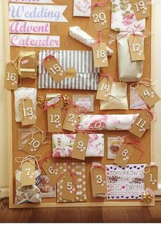 Wedding Advent Calendar!! My friends sisters made this for her wedding. Such a wonderful idea!