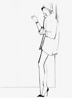 Fashion illustration - chic fashion sketch // Garance Dore
