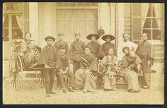 CDV Photo Japan - Group with Japanese Samurai - Meiji Bakumatsu