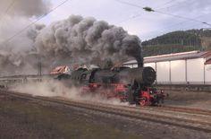 Most epic steam race - Dampflok Dreikönigsdampf Parallelfahrt auf der Sc...