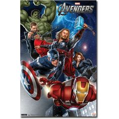 Avengers Group Comic Movie Poster - 22x34 $9.80
