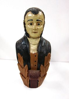 Hardwood Hand-Carved Ship Figurehead by 13thhourvintageshop