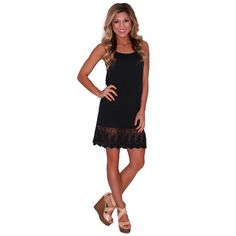 Lace Slip Dress Extender in Black | Impressions #shopimpressions
