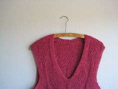 Hand knitted vest woman spring summer sweater by woolpleasure, $45.00