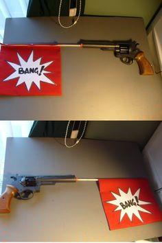 Harley Quinn bang flag gun prop