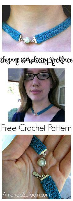 Free Easy Crochet Pattern - Elegant Simplicity Necklace