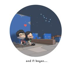 Story of Our Relationship - HJ-Story Love Cartoon Couple, Cute Love Cartoons, Love Couple, Chibi Couple, Sad Love, Love Is Sweet, True Love, Cute Love Stories, Love Story