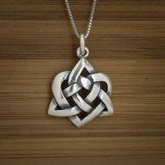 Celtic Heart Pendant - STERLING SILVER - (Just the pendant, chains are sold separately.). $20.00, via Etsy.