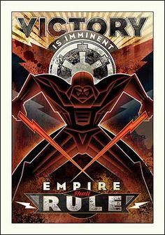 Art Deco Vader Poster