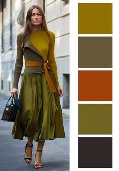 23 How To Wear For Moms outfit fashion casualoutfit fashiontrends Colour Combinations Fashion, Color Combinations For Clothes, Fashion Colours, Colorful Fashion, Color Combos, Green Color Schemes, Warm Autumn, Soft Autumn Deep, Street Style