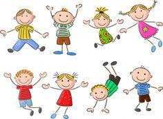 Muitos garoto feliz pulando e dançando juntos Vetor Premium Art Drawings For Kids, Drawing For Kids, Easy Drawings, Art For Kids, Doodle Art, Doodle Drawings, Doodle People, Stick Figure Drawing, Kids Math Worksheets