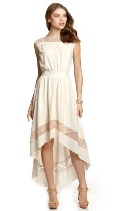 ESLEY Sleeveless High-Low Maxi Dress