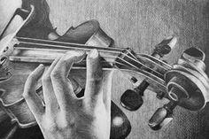 Violin Sketch 2 by AlexndraMirica on DeviantArt Violin Drawing, Violin Painting, Violin Art, Cool Drawings, Pencil Drawings, Sketch 2, String Art, Art Techniques, Artist