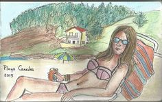Playa Canelas Lápices acuarelables