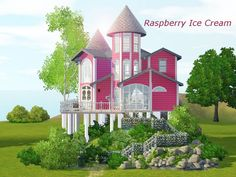 Raspberry Ice Cream house by Eblesade - Sims 3 Downloads CC Caboodle