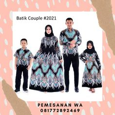 Setelan model baju gamis batik couple keluarga sarimbit terbaru kombinasi katun kemeja lengan panjang untuk kondangan Batik Couple 2021 Chic Outfits, Plus Size Fashion, Ootd, Hollywood, Rompers, Swimwear, Jackets, Dresses, Bathing Suits