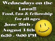 Special July 3rd Wednesday on the Lawn - Mark Your Calendars: The Welcoming and Evangelism Committee is hosting this Independence Day Eve event to boost awareness of (and raise funds for) St. Matthews Walk-In Ministry Program. Fried chicken, sparklers and moon bounce will be free of charge.  Funds will be raised for the Walk-In Ministry Program by charging a small fee to take a throw at the Dunk Tank!