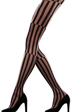 "LOVE these!!!!! ""Optical"" opaque/sheer tights. Brand: Emilio Cavallini."