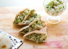 Light & Lovely Recipe: Jicama-Apple Slaw Pitas! Sweet-Dijon Tossed.