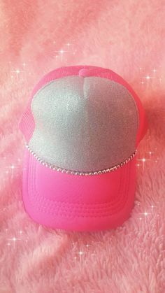 a026f486271 Glitter Rhinestone Hot Pink Trucker Hat by JBombBoutique on Etsy Hot Pink