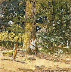 Édouard Vuillard - Antoinette David-Weill et son neveu Maurice Lambiotte à…