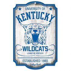 Uk Stainless Steel Logo Kentucky Wildcats Metal Wall Art