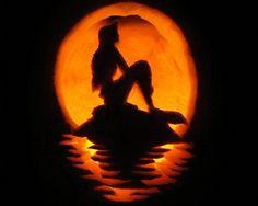 35 Amazing Pumpkin Carvings Mermaid