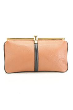 Marni Two Tone Clutch In Coffee & Black - Beyond the Rack