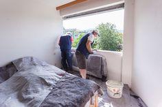 Vorbereitungen für den Glattanstrich für die ÖNORM Fenstermontage B5320.   #Fenstertausch #Linz