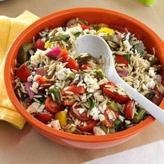 Grilled Vegetable Orzo Salad Recipe.... Just made this last night. Yum-o!