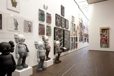 """At Home I'm A Tourist""  Selim Varol displays a few of his 15,000 artist toys in Berlin"