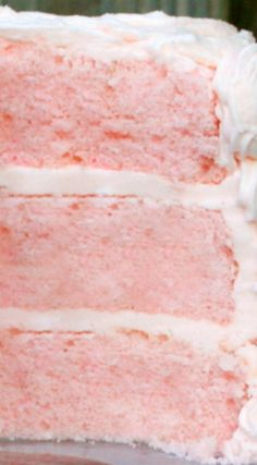 Pink Champagne Cake with Pink Champagne Buttercream ~ This elegant dessert, with it's moist champagne infused layers & delicious buttercream is perfect for weddings, engagement parties, anniversaries, New Year's Eve, or any occasion that calls for something special.