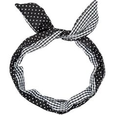 Cream Dot Print and Gingham Wire Bow Headband (39 ARS) ❤ liked on Polyvore featuring accessories, hair accessories, headbands, hair, fillers, cream, bow headwrap, wire hair accessories, polka dot headwrap and head wrap headband