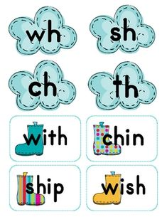 Decoding Digraphs ch, sh, th and wh - Katie Clodfelder - TeachersPayTeachers.com - Free