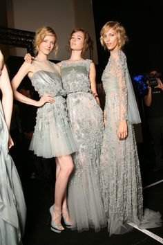 Elie Saab fall 2011 couture backstage