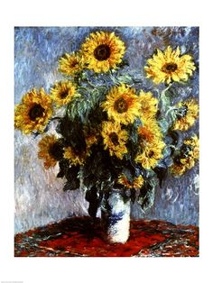 ❤ =^..^= ❤   Still life with Sunflowers, 1880 ~ Claude Monet
