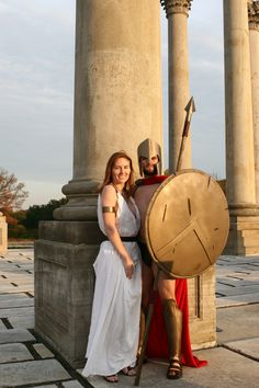 Homemade Leonidas and Gorgo costumes from the movie 300. I want to know how they did this!!