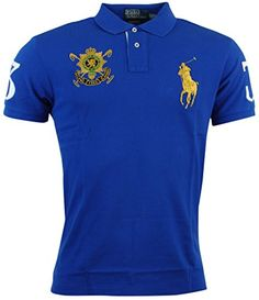 Polo Ralph Lauren Mens Blackwatch Big Pony Mesh Polo Shirt - S - Blue