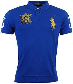 Polo Ralph Lauren Mens Blackwatch Big Pony Mesh Polo Shirt - S - Blue