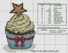 Cupcake Cross Stitch, Xmas Cross Stitch, Cross Stitch For Kids, Cross Stitch Boards, Cross Stitch Kitchen, Cross Stitch Love, Cross Stitch Pictures, Cross Stitch Kits, Cross Stitch Designs