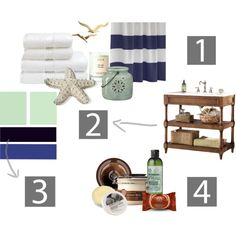 Guest Bathroom Style Board, created by formosaspain on Polyvore