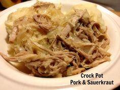 Crock Pot Pork and Sauerkraut #recipe #crockpot #slowcooker