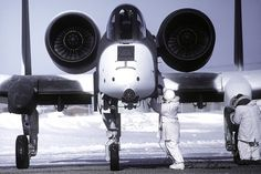 """""""Snow 'hog, A-10 with winter camo."""" All ready for the battle of Hoth."""